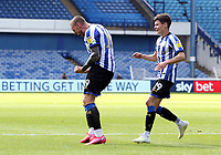Sheffield Wednesday's Connor Wickham roars in celebration after scoring his side's equalising goal to make the score 1 - 1 <br /> <br /> Photographer Rich Linley/CameraSport<br /> <br /> The EFL Sky Bet Championship - Sheffield Wednesday v Nottingham Forest - Saturday 20th June 2020 - Hillsborough - Sheffield <br /> <br /> World Copyright © 2020 CameraSport. All rights reserved. 43 Linden Ave. Countesthorpe. Leicester. England. LE8 5PG - Tel: +44 (0) 116 277 4147 - admin@camerasport.com - www.camerasport.com