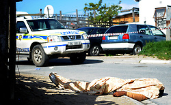 South Africa - Cape Town - 29 September 2020 Simamkelo's grand mother Ntombi Jamela at the scene where a 21 year old Simamkelo Mseti died after he was stabbed in Samora Marchel. Photographer Ayanda Ndamane /African News Agency(ANA)