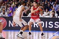Real Madrid's Anthony Randolph and EA7 Emporio Armani Milan's Andrea Cinciarini during Turkish Airlines Euroleage match between Real Madrid and EA7 Emporio Armani Milan at Wizink Center in Madrid, Spain. January 27, 2017. (ALTERPHOTOS/BorjaB.Hojas)