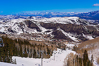 Snowmass (Aspen) ski resort, Snowmass Village, Colorado USA.