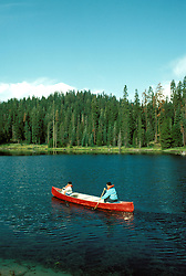 CA: Sequoia-Kings Canyon National Park, canoe     .Photo Copyright: Lee Foster, lee@fostertravel.com, www.fostertravel.com, (510) 549-2202.Image: catree203