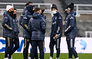 Leeds United midfielder Mateusz Klich (43) arrives at the ground  during the Premier League match between Newcastle United and Leeds United at St. James's Park, Newcastle, England on 26 January 2021.