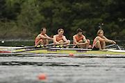 2006 FISA World Cup, Lucerne, SWITZERLAND, 07.07.2006. Men's Four, NED M4- bow, Geert CIRKEL, Jan-Willem GABRIELS, Matthijs VELLENGA, Gijs VERMEULEM ,   Photo  Peter Spurrier/Intersport Images email images@intersport-images.com.[Friday Morning]...[Mandatory Credit Peter Spurrier/Intersport Images... Rowing Course, Lake Rottsee, Lucerne, SWITZERLAND.