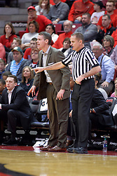 07 January 2018:  Kelly Self stands near coach Paul Lusk during a College mens basketball game between the Missouri State Bears and Illinois State Redbirds in Redbird Arena, Normal IL