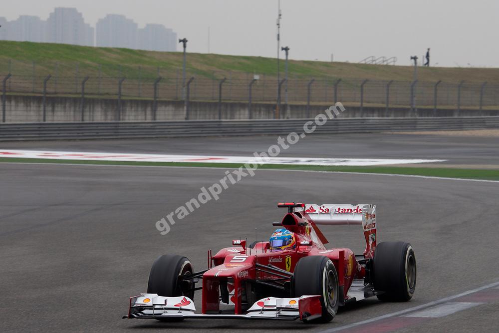 Fernando Alonso (Ferrari) during practice before the 2012 Chinese Grand Prix at the Shanghai International Circuit . Photo: Grand Prix Photo