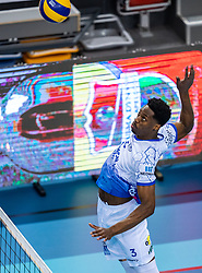 Jerome Cross of Lycurgus in action during the last final league match between Draisma Dynamo vs. Amysoft Lycurgus on April 25, 2021 in Apeldoorn.