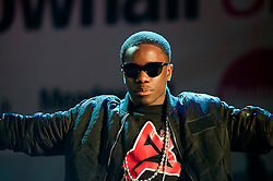 Kwasi Danquah III AKA Tinchy Stryder AKA Star In The Hood opens Meadowhalls Christmas lights switch on concert in Sheffield on Thursday evening 3 November 2011. Image © Paul David Drabble