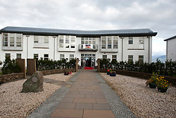 The Sabhal Mor Ostaig (the Gaelic College) at Sleat. Two stars of The Inbetweeners Movie, Joe Thomas and Simon Bird, at a screening of the new film in the island's Gaelic college. Also apearing were co-stars Jessica Knappet and Lydia Rose Bewley..