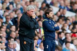 Hull City Manager Steve Bruce rubs his face in frustration - Photo mandatory by-line: Rogan Thomson/JMP - 07966 386802 - 16/05/2015 - SPORT - FOOTBALL - London, England - White Hart Lane - Tottenham Hotspur v Hull City - Barclays Premier League.