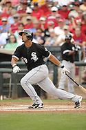 SURPRISE, AZ - MARCH 06:  Jose Abreu #79 of the Chicago White Sox bats against the Kansas City Royals on March 6, 2014 at The Ballpark in Surprise in Surprise, Arizona. (Photo by Ron Vesely)   Subject: Jose Abreu