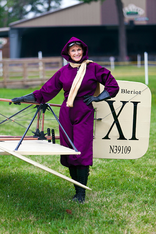 Harriet Quimby re-enactor Connie Tobias at AirVenture 2011, in Oshkosh, Wisconsin.