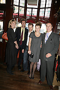 jessica Fellowes, Simon Simon Jacot de Boinod  Tom Aikens, Amber Nuttall and Jonathan Zammett. PJ's Annual Polo Party . Annual Pre-Polo party that celebrates the start of the 2007 Polo season.  PJ's Bar & Grill, 52 Fulham Road, London, SW3. 14 May 2007. <br />  -DO NOT ARCHIVE-© Copyright Photograph by Dafydd Jones. 248 Clapham Rd. London SW9 0PZ. Tel 0207 820 0771. www.dafjones.com.