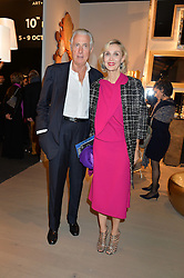 ALLEGRA HICKS and ROBERTO MOTTOLA d'AMATO at the PAD London 2015 VIP evening held in the PAD Pavilion, Berkeley Square, London on 12th October 2015.