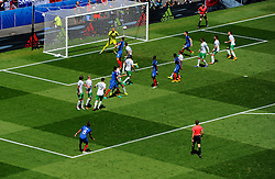 Dimitri Payet of France fires a free kick towards goal  - Mandatory by-line: Joe Meredith/JMP - 26/06/2016 - FOOTBALL - Stade de Lyon - Lyon, France - France v Republic of Ireland - UEFA European Championship Round of 16
