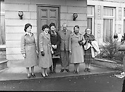 Farmers Wives and Daughters at British Embassy.1982.04.03.1982 .03.04.1982.4th March 1982.Photograph taken of the ladies accompanied by the British Ambassador, Sir Leonard Figg.