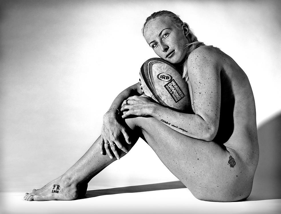 Nederland, Lisse, 20-12-2013.<br /> Remke van der Kade, rugby speelster van het nationale vrouwen sevens talententeam.<br /> Foto : Klaas Jan van der Weij