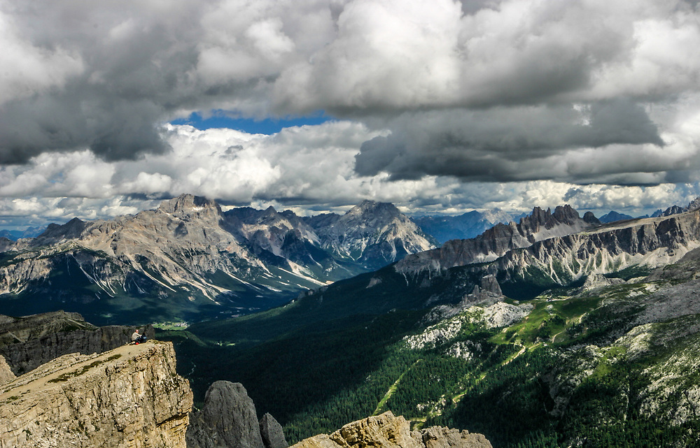 Dolomites around Cortina D'Ampezzo, Italy. Dolomites are famous for skiing in the winter months and mountain climbing, hiking, climbing