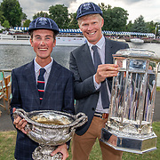 Sam Bosworth and James Lassche (R)<br /> <br /> Finals racing day at the Henley Royal Regatta on The Thames river, Henley on Thames, England. Sunday 7 July 2019. © Copyright photo Steve McArthur / www.photosport.nz