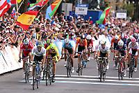 Arrival Sprint / Michael MATTHEWS (Aus)/ Ramunas NAVARDAUSKAS (Ltu)/ Alexander KRISTOFF (Nor)/ Alejandro VALVERDE (Esp)/ Simon GERRANS (Aus)/ Tony GALLOPIN (Fra)/ Michal KWIATKOWSKI (Pol)/ Rui COSTA (Por) during the UCI Cycling World Championships 2015, in Richmond, USA, Elite Men, Richmond - Richmond (261,4Km), on September 27, 2015 - Photo Tim de Waele / DPPI