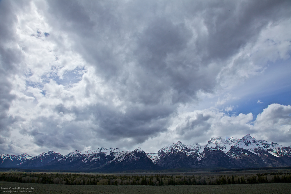 Clouds over the Teton Mountains in Grand Teton National Park