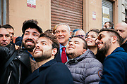 PM candidate for Liberi e Uguali (Free and Equal) Pietro Grasso visiting Bari, during the electoral campaing for the political elections. Bari 23 February  2018. Christian Mantuano / OneShot