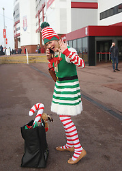 One of Santa's Elves before the match - Mandatory by-line: Jack Phillips/JMP - 17/12/2016 - FOOTBALL - Bet365 Stadium - Stoke-on-Trent, England - Stoke City v Leicester City - Premier League