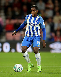 """Brighton and Hove Albion Jose Heriberto Izquierdo during the Carabao Cup, third round match at the Vitality Stadium, Bournemouth. PRESS ASSOCIATION Photo. Picture date: Tuesday September 19, 2017. See PA story SOCCER Bournemouth. Photo credit should read: Steven Paston/PA Wire. RESTRICTIONS: EDITORIAL USE ONLY No use with unauthorised audio, video, data, fixture lists, club/league logos or """"live"""" services. Online in-match use limited to 75 images, no video emulation. No use in betting, games or single club/league/player publications."""