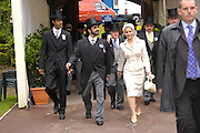 Sheikh Maktoum and his wife. Royal Ascot Race meeting Ascot at York. Tuesday 14 June 2005. ONE TIME USE ONLY - DO NOT ARCHIVE  © Copyright Photograph by Dafydd Jones 66 Stockwell Park Rd. London SW9 0DA Tel 020 7733 0108 www.dafjones.com