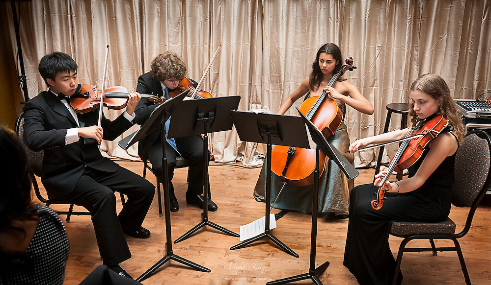 String Quartet perfoming at the SOPAC 2015 Gala.