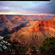 Sunset after a summer storm, Pima Point, Grand Canyon National Park. 4x5 Kodak Ektar 100. photo by Nathan Lambrecht