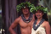 Polynesian couple, hula<br />