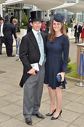 SAM & BELLA WALEY-COHEN at the Investec Derby at Epsom Racecourse, Epsom, Surrey on 4th June 2016.