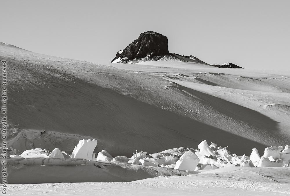Castle Rock from Pram Point Pressure Ridges
