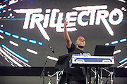 WASHINGTON, DC - August 23rd, 2014 - Canadian DJ Lunice performs at the 3rd annual Trillectro Music Festival at RFK Stadium in Washington, D.C. (Photo by Kyle Gustafson / For The Washington Post)