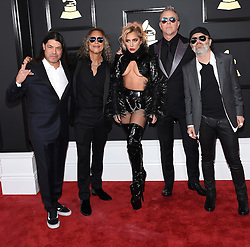 February 12, 2017 - Los Angeles, California, U.S. - Lady Gaga and Metallica arrives for the 2017 Grammy Awards at Staples Center. (Credit Image: © Lisa O'Connor via ZUMA Wire)