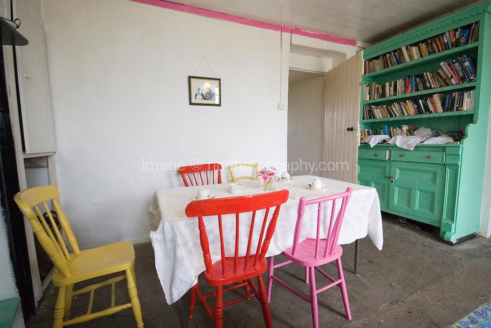 Traditional cafe interior in Connemara Galway Ireland