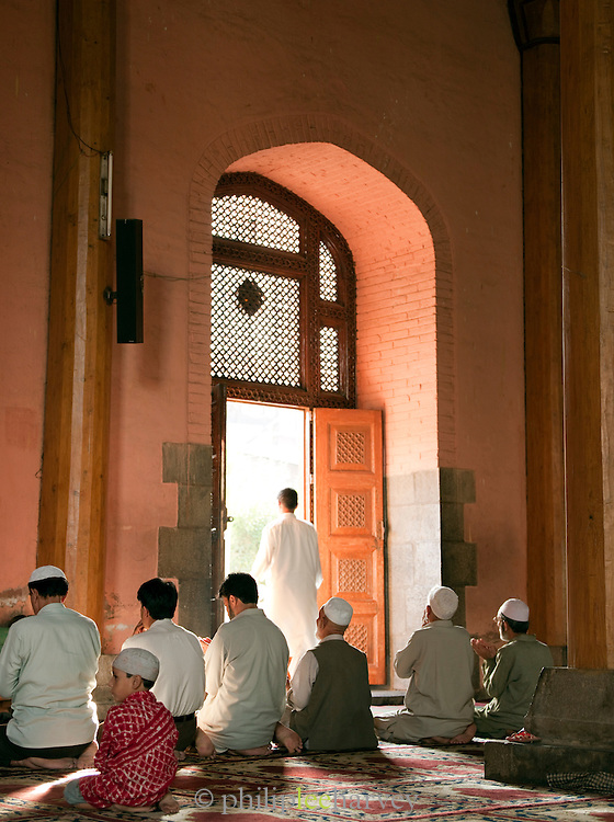 Worshippers in the Jamia Masjid Mosque in Srinigar, Kashmir, India