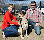 Tim and Sara Neylan and their German Shepard Lucy at the White Rock Lake Dog Park on Sunday, February 3, 2013 in Dallas, Texas. (Cooper Neill/The Dallas Morning News)