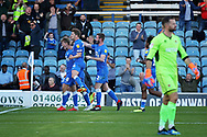 Peterborough United midfielder Mark O'Hara (8) celebrates his goal during the EFL Sky Bet League 1 match between Peterborough United and Blackpool at The Abax Stadium, Peterborough, England on 29 September 2018.