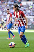 Atletico de Madrid's Filipe Luis during La Liga match between Real Madrid and Atletico de Madrid at Santiago Bernabeu Stadium in Madrid, April 08, 2017. Spain.<br /> (ALTERPHOTOS/BorjaB.Hojas)