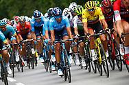 Daniele Bennati (ITA - Movistar), Greg Van Avermaet (BEL - BMC) Yellow jersey during the Tour de France 2018, Stage 4, Team Time Trial, La Baule - Sarzeau (195 km) on July 10th, 2018 - Photo Luca Bettini / BettiniPhoto / ProSportsImages / DPPI