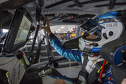 June 1, 2018 - Long Pond, Pennsylvania, United States of America - Kyle Larson (42) hangs out in the garage during practice for the Pocono 400 at Pocono Raceway in Long Pond, Pennsylvania. (Credit Image: © Justin R. Noe Asp Inc/ASP via ZUMA Wire)