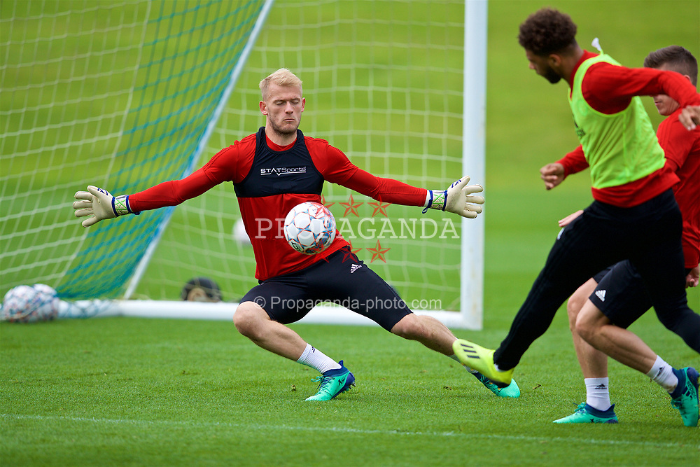 CARDIFF, WALES - Saturday, September 8, 2018: Wales' goalkeeper Adam Davies during a training session at the Vale Resort ahead of the UEFA Nations League Group Stage League B Group 4 match between Denmark and Wales. (Pic by David Rawcliffe/Propaganda)