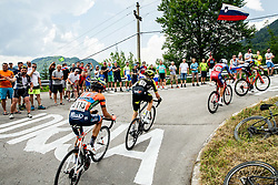 Peloton in Idrija during 3rd Stage of 26th Tour of Slovenia 2019 cycling race between Zalec and Idrija (169,8 km), on June 21, 2019 in Slovenia. Photo by Vid Ponikvar / Sportida