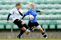 Fotball<br /> Norge<br /> 04.05.2011<br /> Foto: Morten Olsen, Digitalsport<br /> <br /> Trening Norge A kvinner<br /> Nadderud Stadion<br /> Internkamp - Norge Blå mot Norge Hvit<br /> <br /> Trine Rønning (W)<br /> Cecilie Pedersen (B)