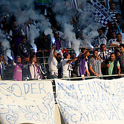Orduspor's supporters during their Turkish Superleague soccer match istanbul BBSK between Orduspor at the Ataturk Olympic stadium in Istanbul Turkey on Sunday 23 September 2012. Photo by TURKPIX