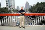 """Chinese author Yan Lianke in Beijing. Yan, 49, has won China's top two literary honours - the Lu Xun award in 1997 and 2001, and the Lao She in 2004. He has published numerous novels and short story collections and three of his books, including """"Serve the People,"""" have been banned."""