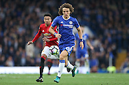 David Luiz of Chelsea in action. Premier league match, Chelsea v Manchester Utd at Stamford Bridge in London on Sunday 23rd October 2016.<br /> pic by John Patrick Fletcher, Andrew Orchard sports photography.