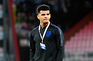 Dominic Solanke walking the pitch at the Vitality Stadium before the U21 International match between England and Germany at the Vitality Stadium, Bournemouth, England on 26 March 2019.