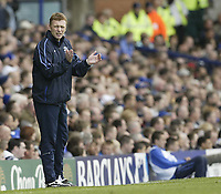 Fotball<br /> England 2004/2005<br /> Foto: SBI/Digitalsport<br /> NORWAY ONLY<br /> <br /> Everton v Newcastle United.<br /> FA Barclays Premiership.<br /> 07/05/2005.<br /> <br /> Everton's David Moyes applauds his teams performance against Newcastle